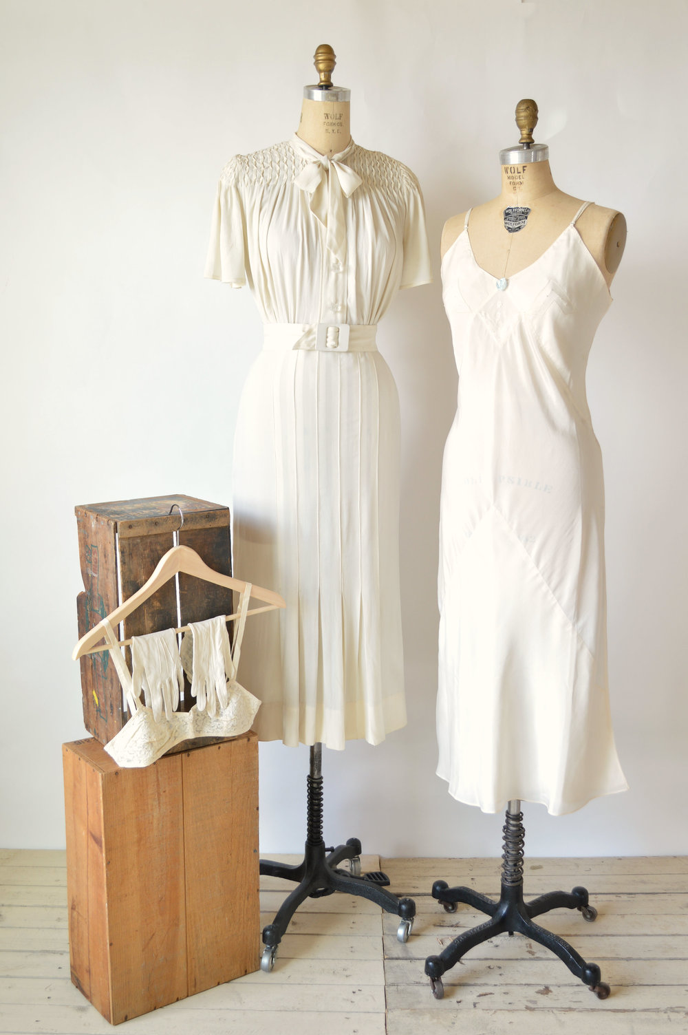 1920s Wedding Dress Set