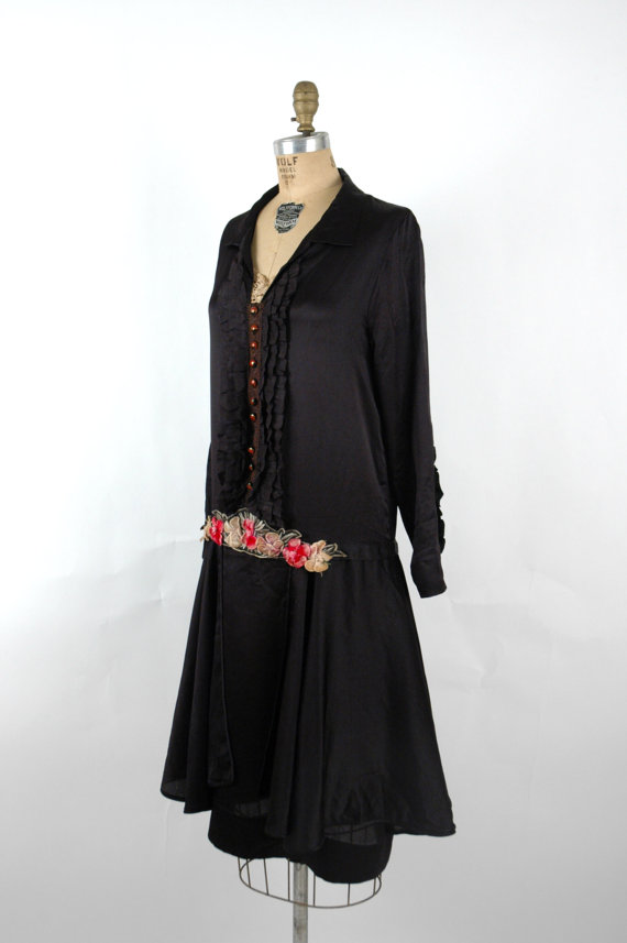 1920s Heavy Silk Dress