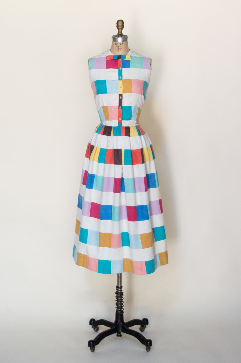 1940s Cotton Dress