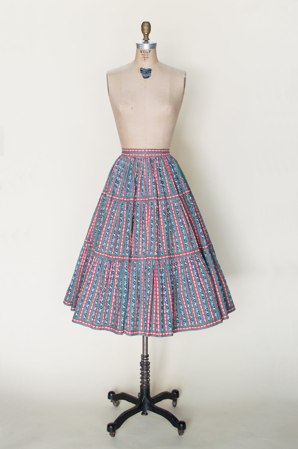 1940s Cotton Skirt