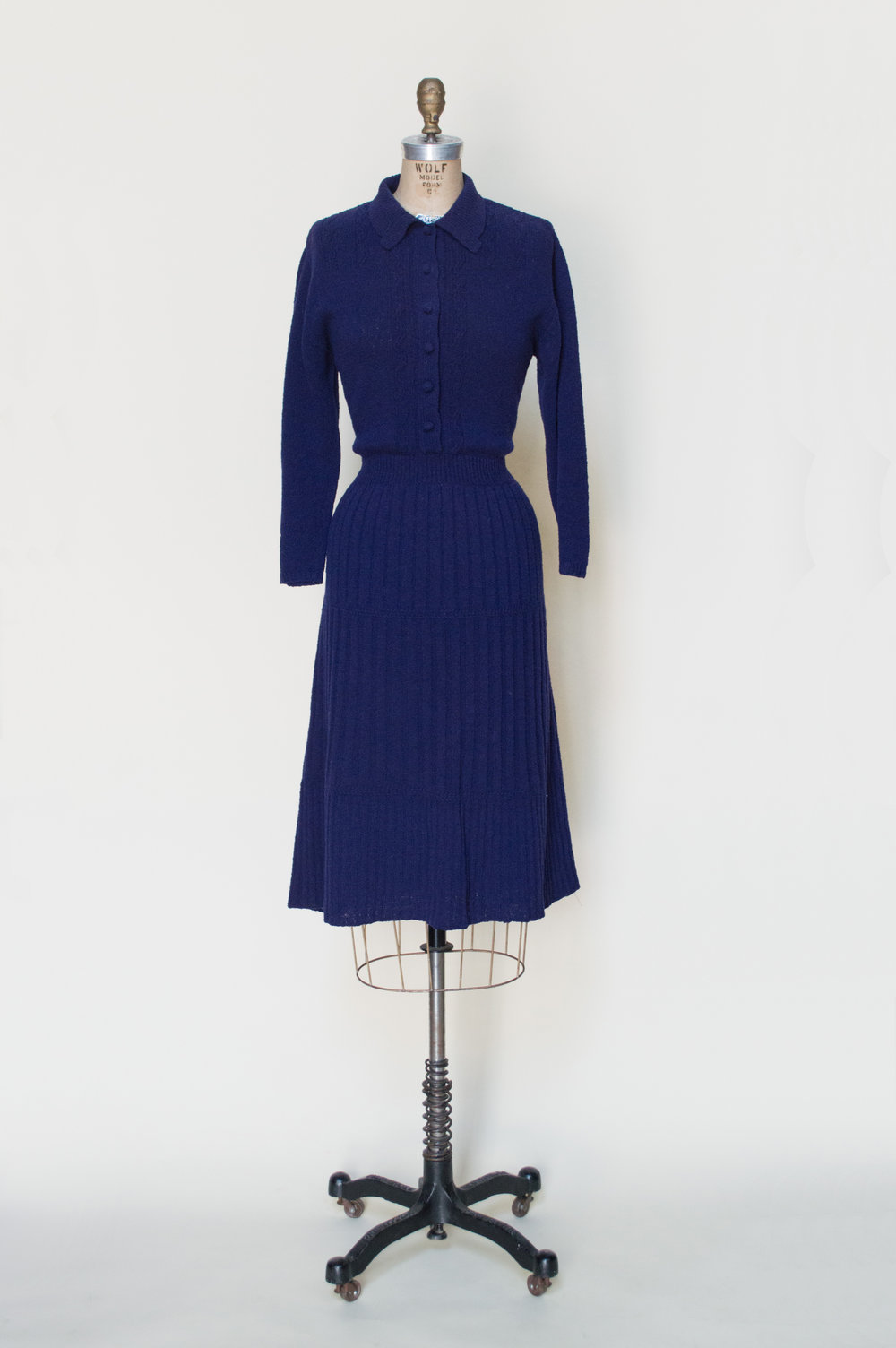 1940s Sweater Dress