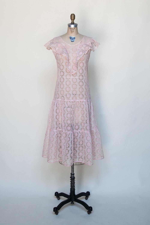 1920s Eyelet Dress