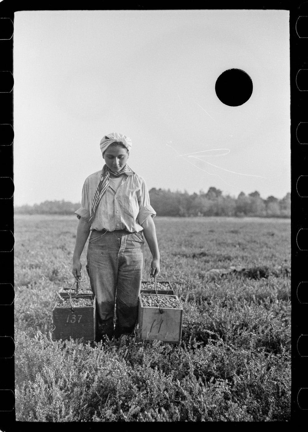 Killed negative from a series of photos taken by the U.S. Farm Security Administration during the Depression Era.