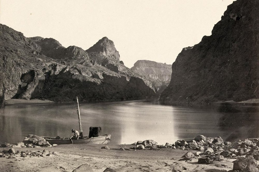 The Colorado River in the Black Canyon, Mojave County, Arizona. Taken in 1871.