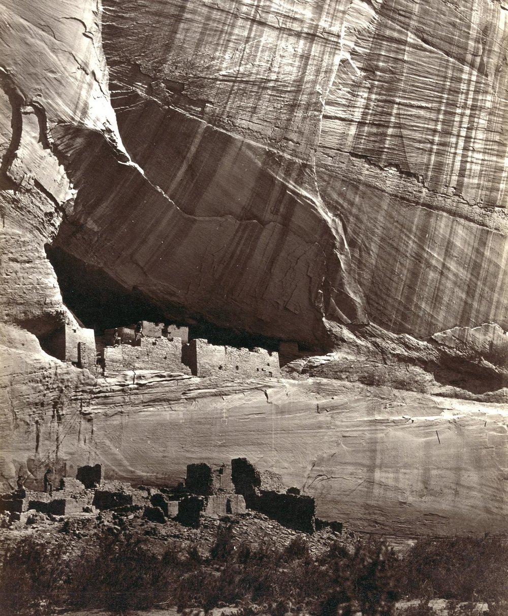 Anasazi ruins in Canyon de Chelly, Arizona, America in 1873.