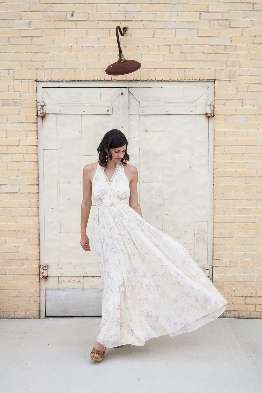 That skirt though! Love this sweet halter dress from Dalena Vintage.