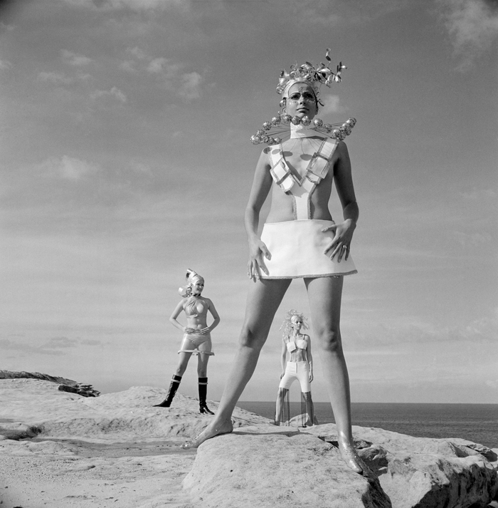 Late 1960s fashion photography with the best inspiration for a 1960s SciFi Halloween costume.