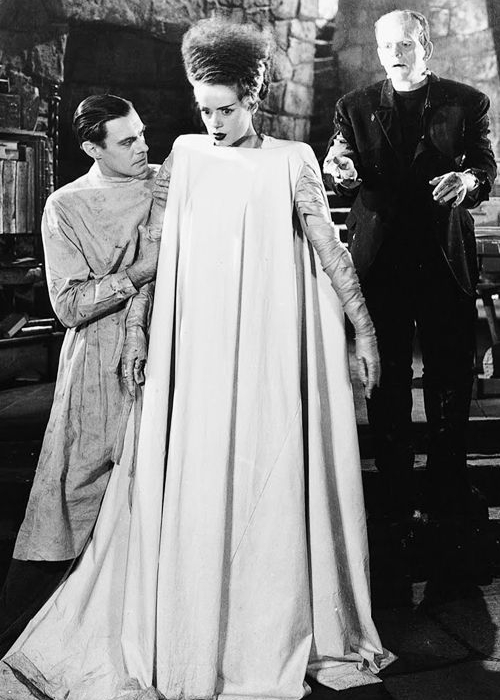 Why not dress up as the classic Bride of Frankenstein for Halloween? 10 Halloween Costumes Inspired by Vintage Photos.