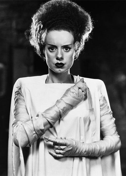 Why not dress up as the classic Bride of Frankenstein for Halloween?