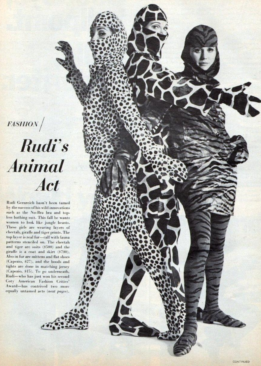 Vintage animal costumes. Love the cheetah for Halloween!