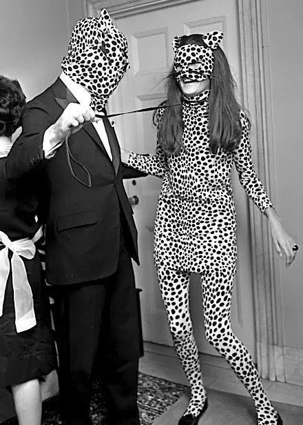 Vintage 1960s cheetah costume.