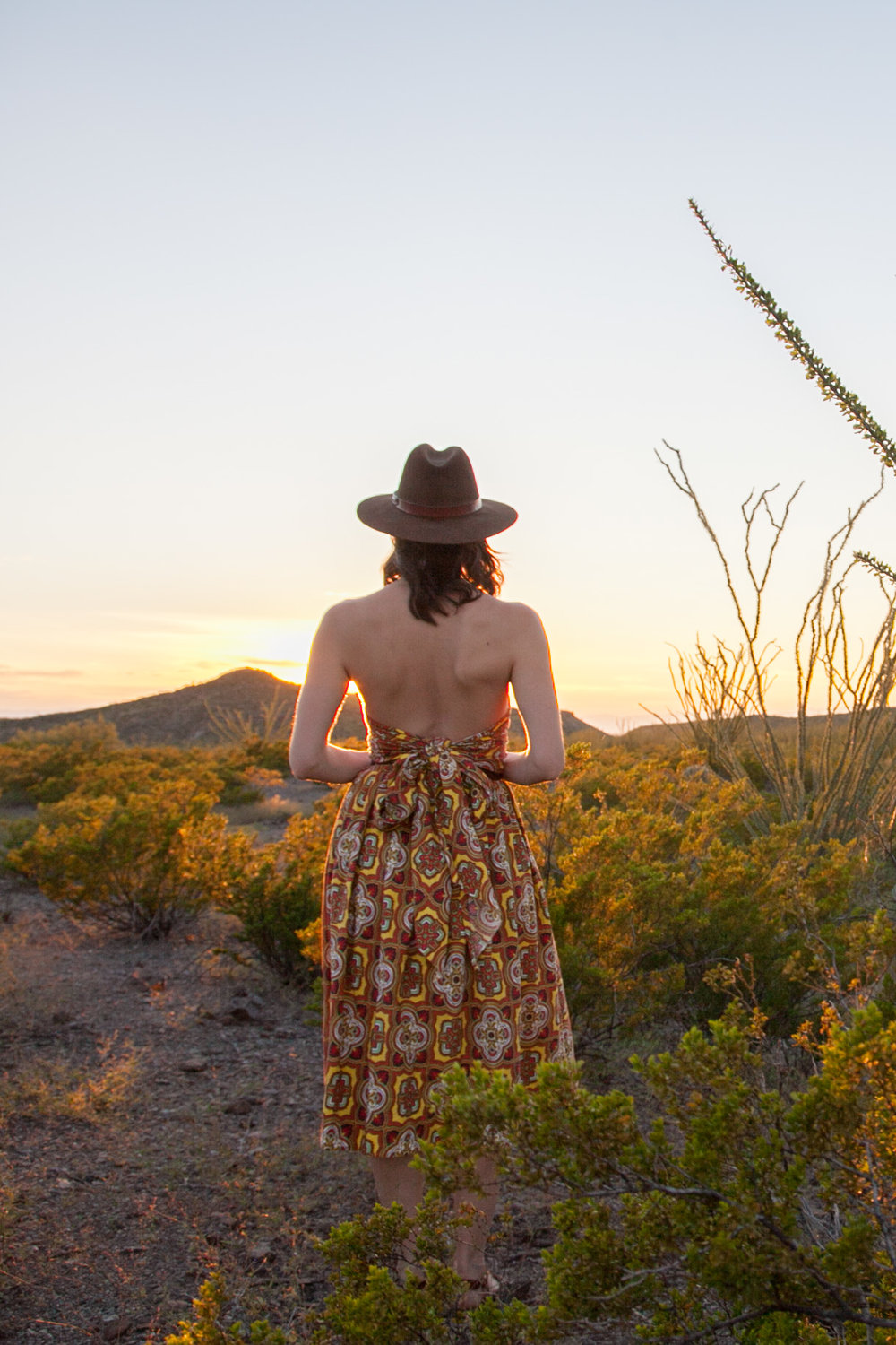 Desert scenes at sunset with Dalena Vintage