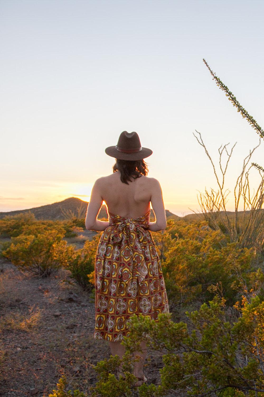 Desert scenes at sunset with Dalena Vintage