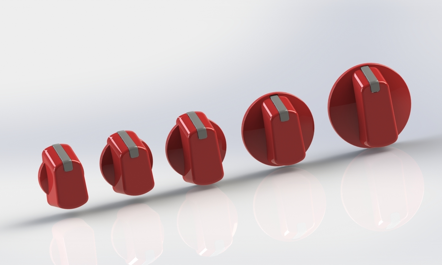 Perfect Red Universal Appliance Cooker Knob
