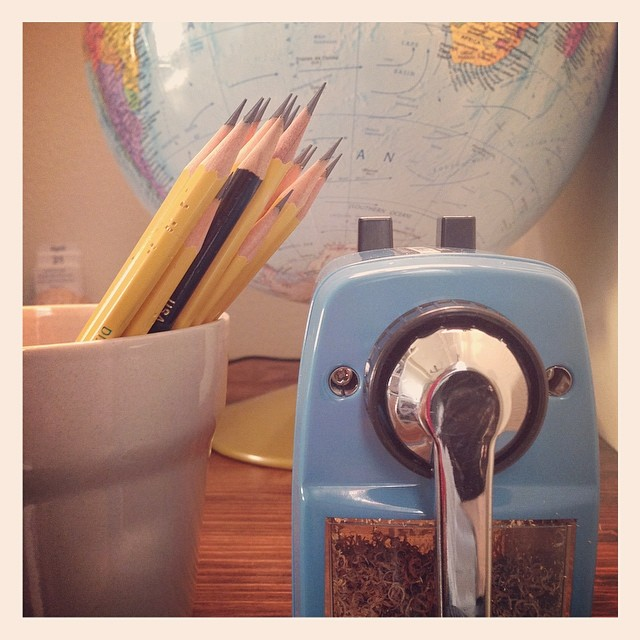 """""""Don't you love New York in the fall? It makes me want to buy school supplies. I would send you a bouquet of newly sharpened pencils if I knew your name and address."""" I can now have my own bouquet of perfectly sharpened pencils. #nerdalert #homeschoolfrustrations #sometimesOCD"""