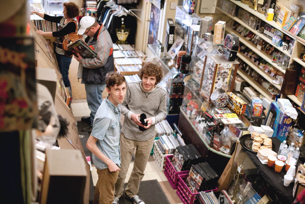 Isaac and Shawn looooove Record Store Day