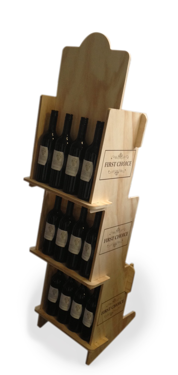 Flatpack wine displau
