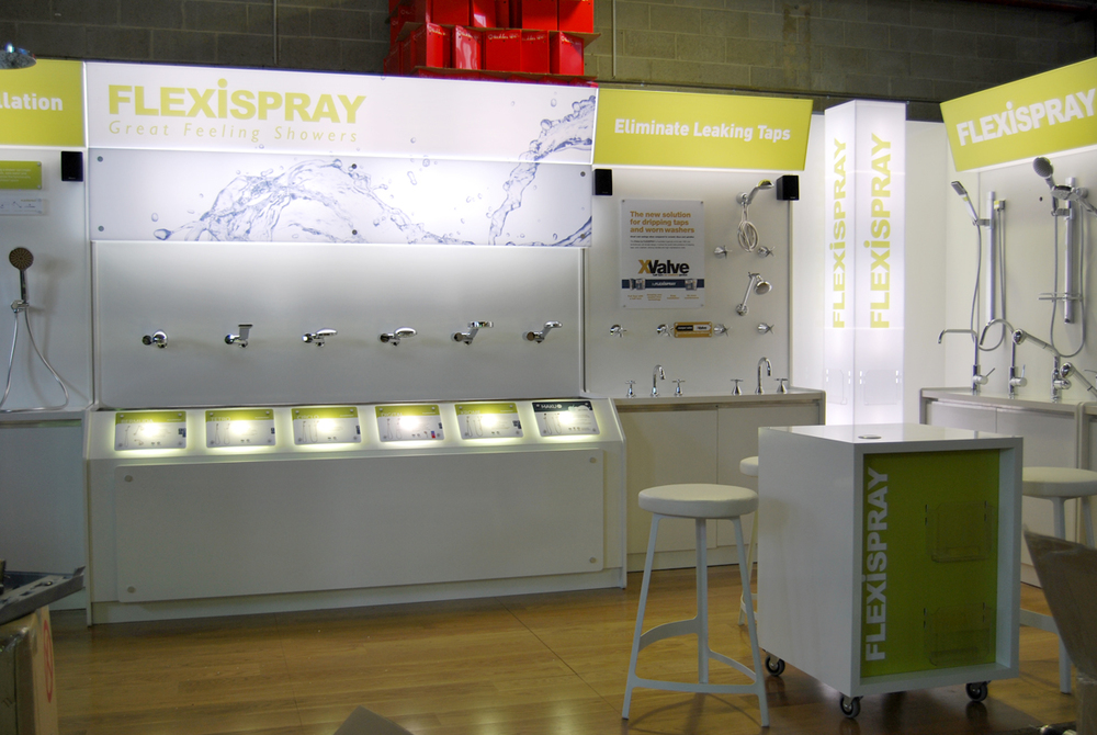 Exhibition stand for Flexispray