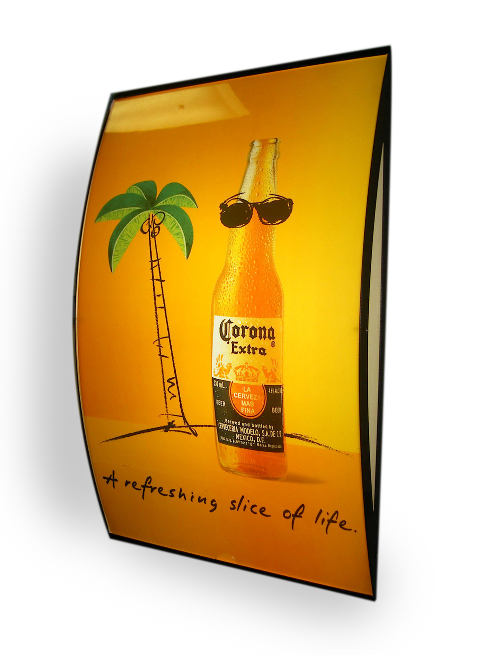 Corona curved lightbox