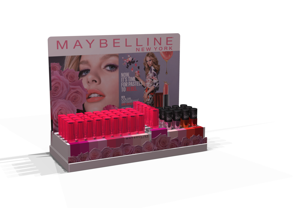 Maybelline Counter unit Rebel Bloom