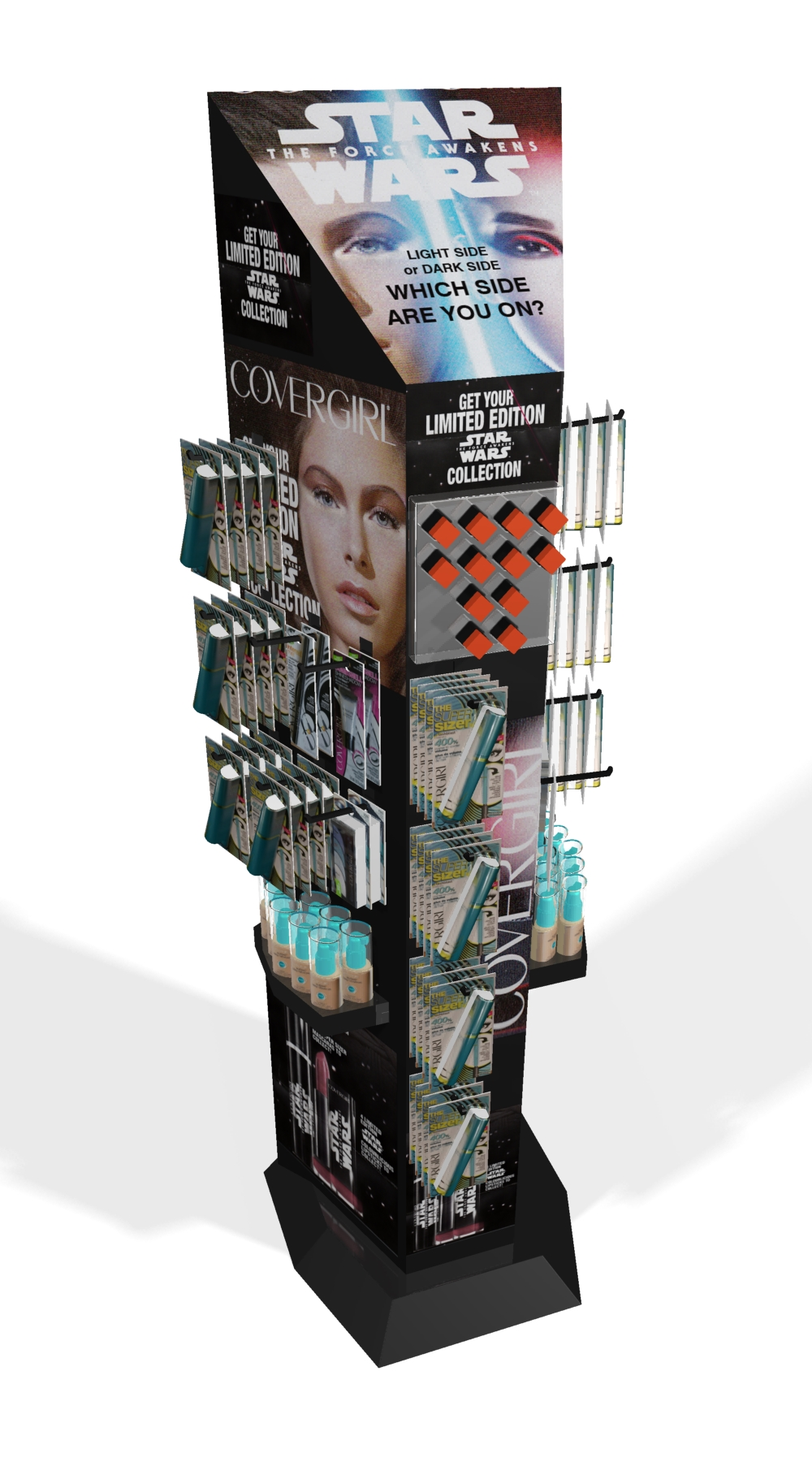 Covergirl Starwars Promotional Floorstand