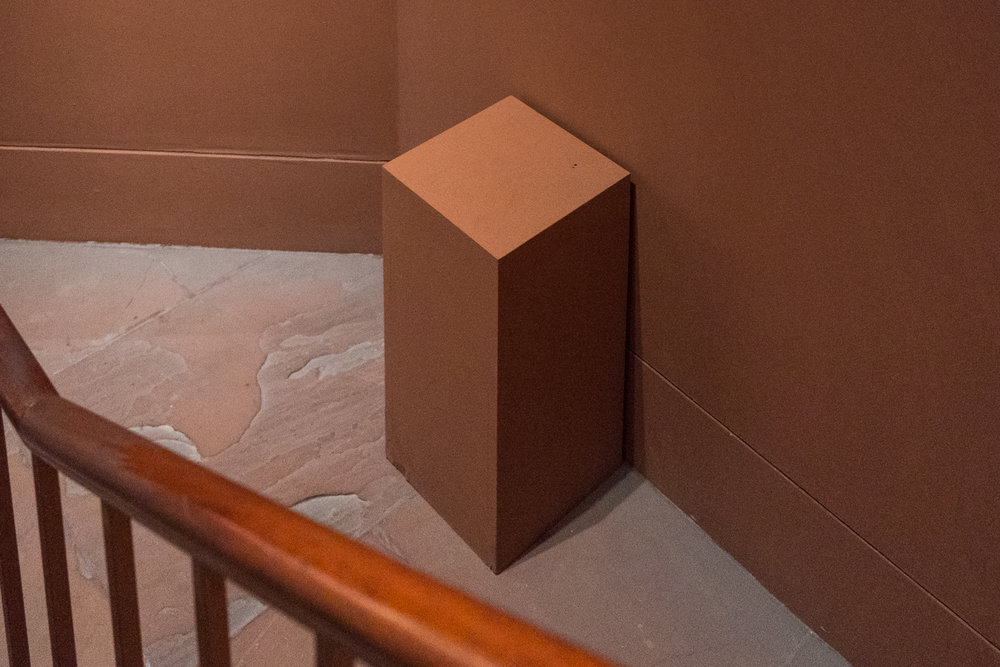 Untitled (On Sandstone With Banister)   New York  2016