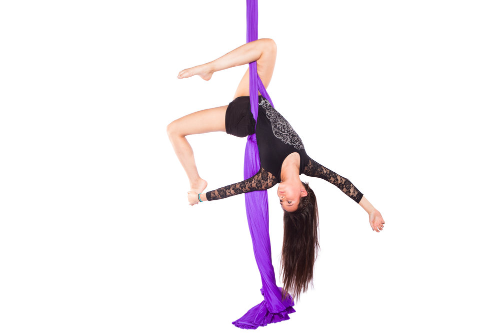Teen Aerial(11-15 yrs)- SATURday 12:00 - 1:00 pm - In this class, students will focus primarily on aerial fabrics skills, while spending some time learning basics on trapeze, aerial rope, and lyra (aerial hoop). During the second half of the season, students will begin to work on developing an act for the student showcase in the Spring.Students are REQUIRED to attend at least one Open Practice session each week and will have access to all Open Practice sessions during the season.