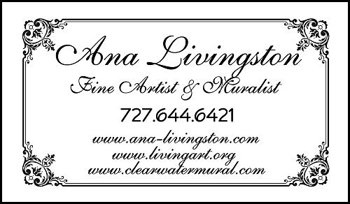 Ana Livingston Fine Artist & Muralist Interim Business card  www.livingart.org