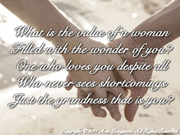 """The Grandness That Is You"" Poetry and Writings Copyright © 2011, 2014 by Ana Livingston. All Rights Reserved"