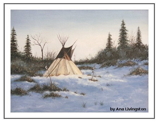 """Winter Camp""  20""x24"" OIL ON CANVAS, FRAMED SOLD"