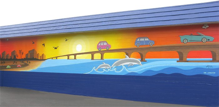 """Clearwater Mural"", 55' long, Clearwater, Florida"