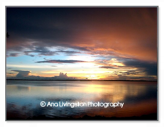 """Sunset on Honeymoon Island"", Photograph from Dunedin, Florida"