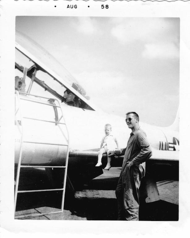 Pete and Joe on a T-33