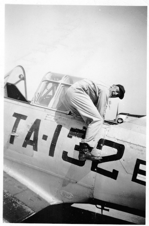 Flight training in a T-6