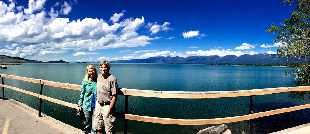 Joan and Eugene at Flathead Lake