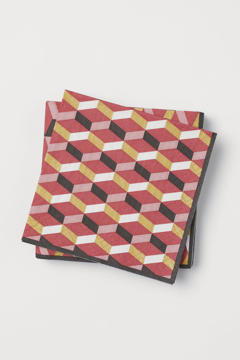 $2.99 PACK - Paper napkins have never looked so good.