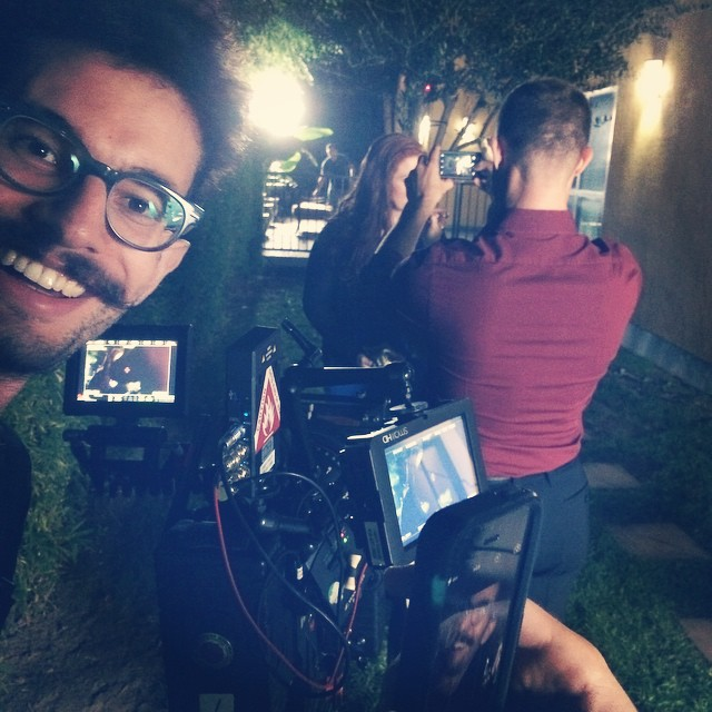 Our film is so meta. iPhone picture of an iPhone picture of an iPhone picture. We know how to have fun on set. #1020films #markandeve #onset #redepic