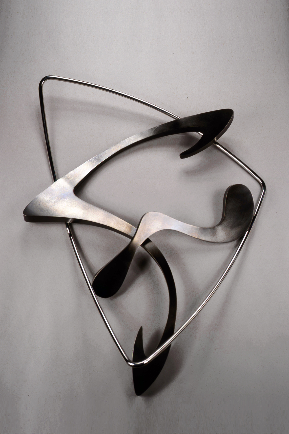 Entropy Series #53, bronze & stainless steel