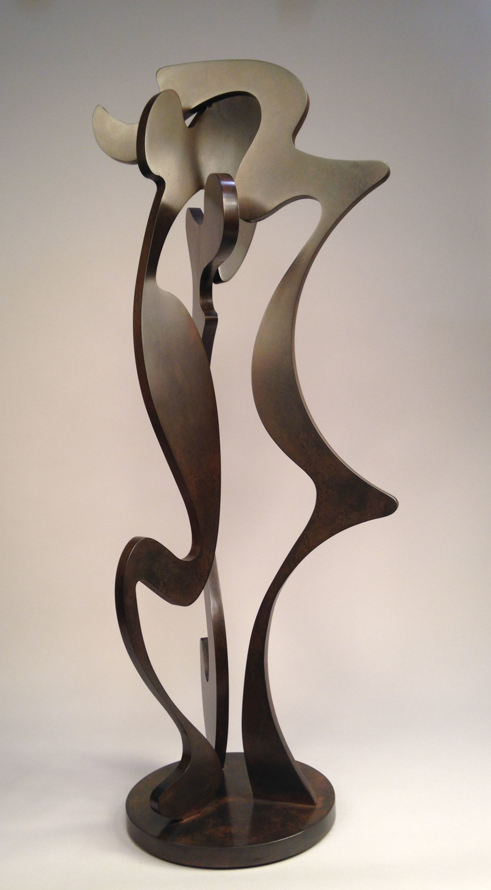"Triad, Patinaed Steel, 42""x14""x14"""