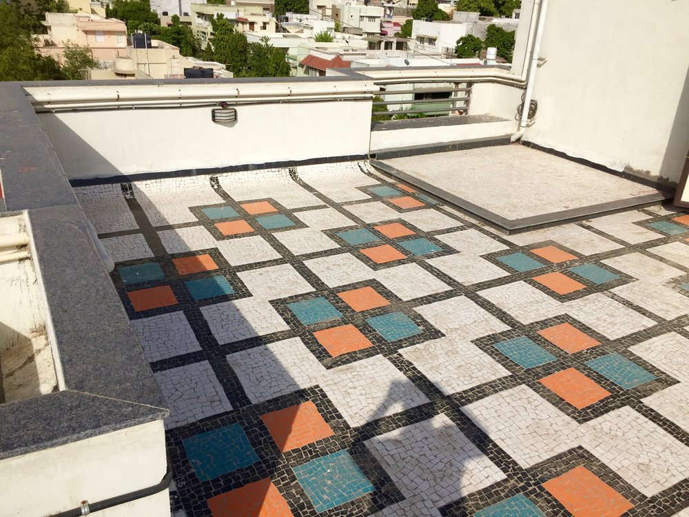 Designer Mosaic Tiles (Private Terrace) with sitting area