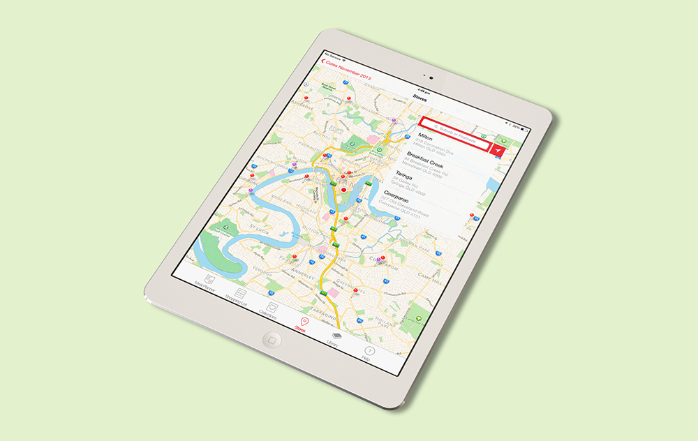 Store Locator, which found the nearest Coles Supermarket or Coles Express for the user.