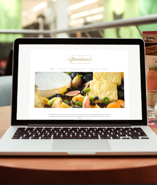 The Cheeseboard Lady  Branding, art direction and website design.