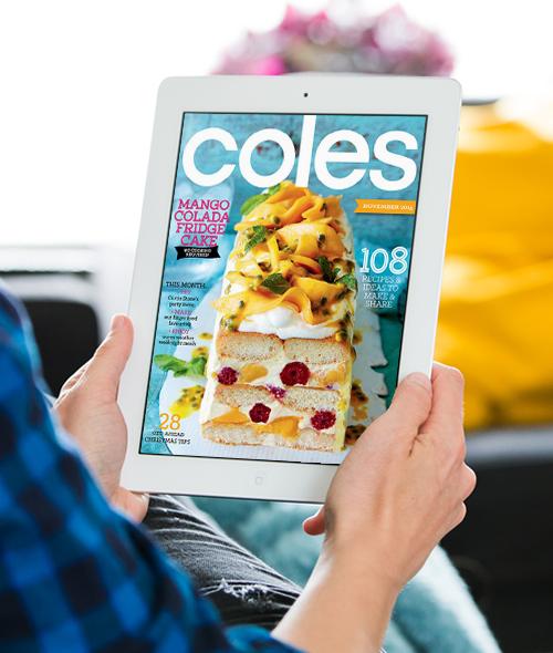Coles Magazine   UX/  UI design.