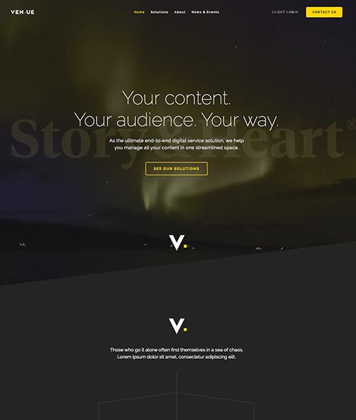 Ven.ue   Rebrand and website design.