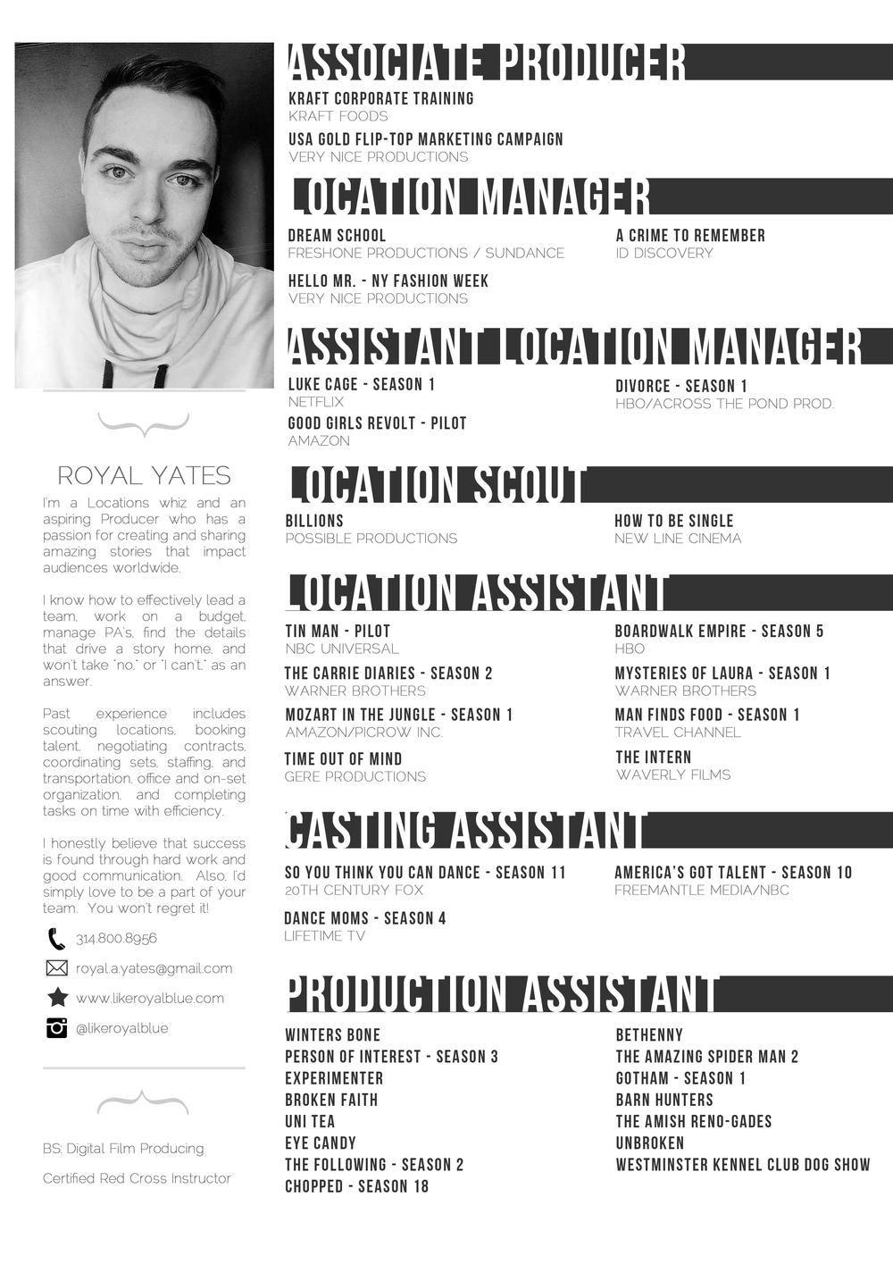 Resume Royal Yates