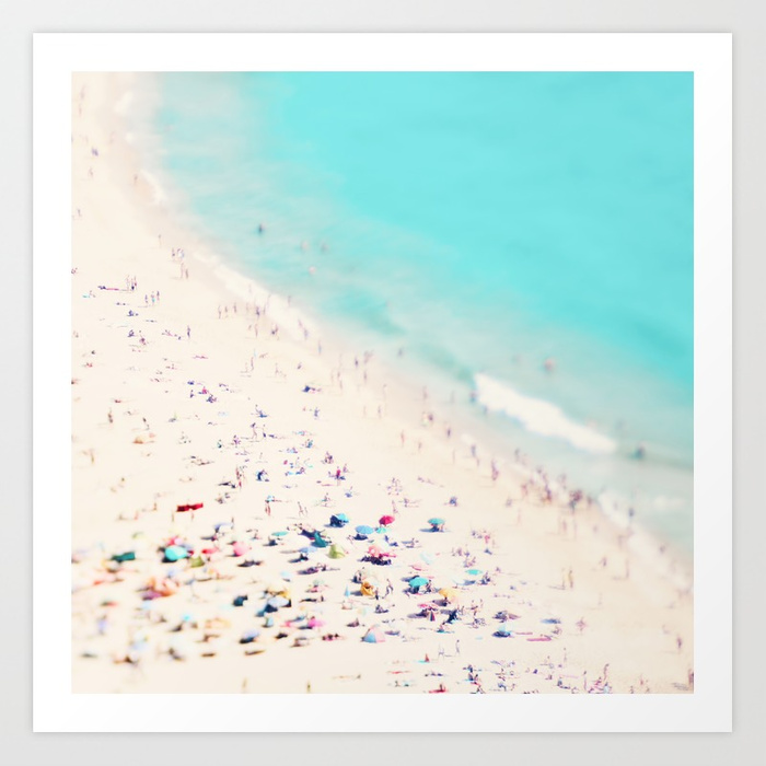 beach love III square  by  Ingrid Beddoes photography