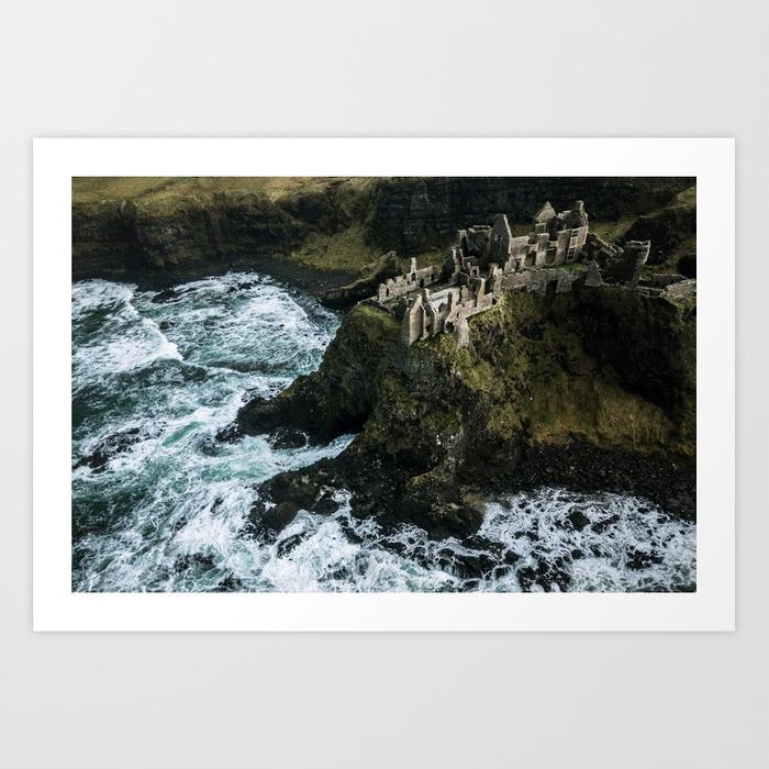 Castle ruin by the Irish sea  by  Michael Schauer