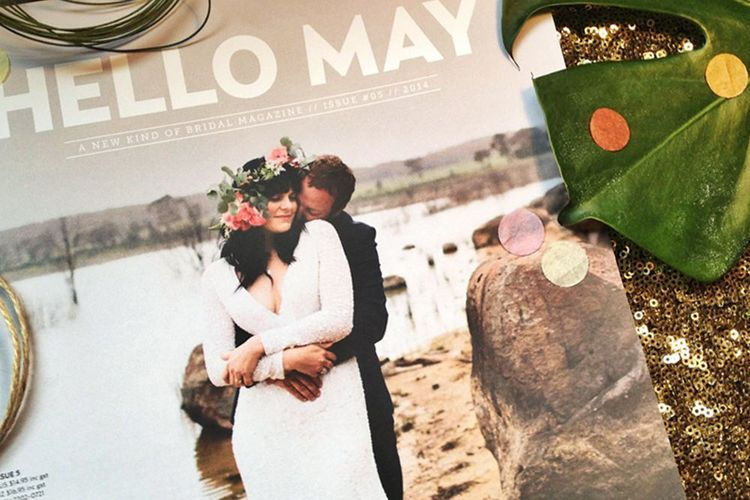 Our wedding feature inside Issue #5 of  Hello May .