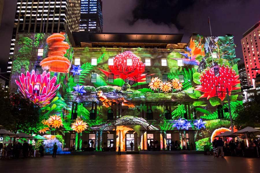 The light displays of Vivid Sydney 2015.