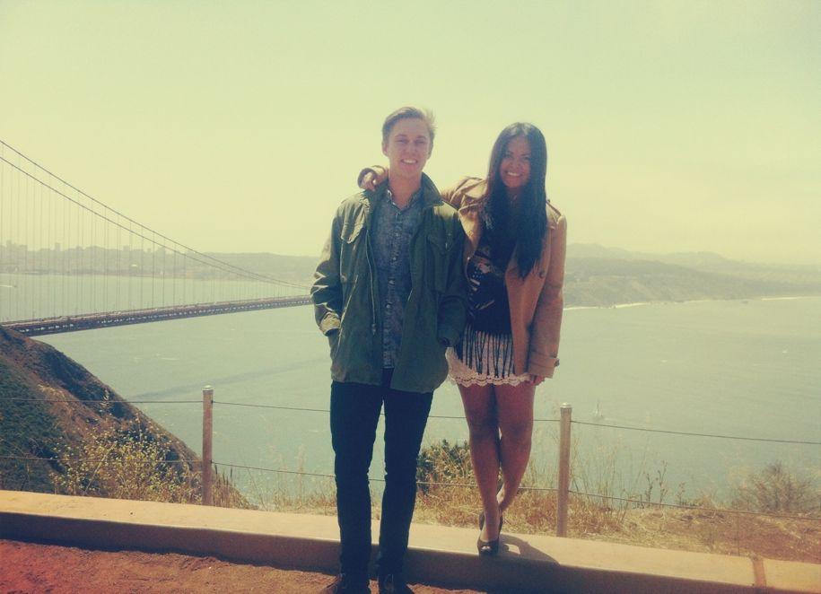 Overlooking the Golden Gate Bridge.